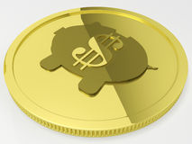 Dollar Piggy Coin Showing American Currency Royalty Free Stock Photos