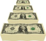 Dollar Pile Royalty Free Stock Photo