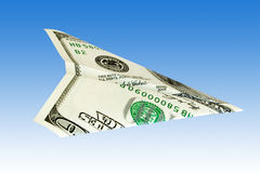 Dollar plane Stock Photography