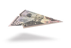 Dollar plane Royalty Free Stock Image