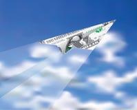 Dollar plane Royalty Free Stock Image