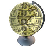 Dollar Planet Royalty Free Stock Photography