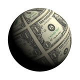 Dollar planet on a white background Royalty Free Stock Photo