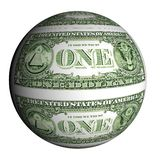 Dollar planet on a white background Stock Photography