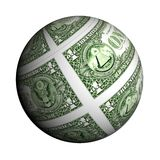 Dollar planet on a white background Stock Images