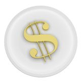 Dollar on a Plate Stock Image