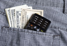 Dollar in pocket Royalty Free Stock Images