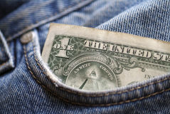 Dollar  in the pocket Royalty Free Stock Image