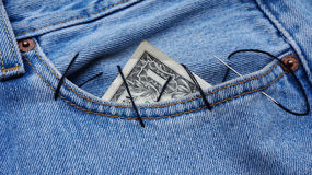 Dollar in the pocket Stock Image
