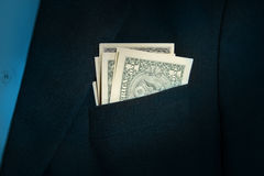 Dollar in the pocket Royalty Free Stock Photos