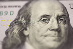 Dollar portrait Franklin Stock Photo