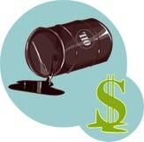 Dollar près du baril Photo libre de droits