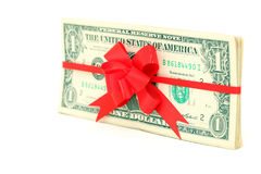 Dollar present Stock Photos