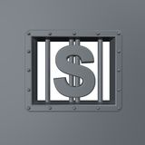 Dollar prison Royalty Free Stock Photo