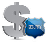 Dollar protected concept illustration design. Over white Stock Photography