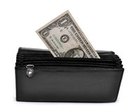 Dollar in purse Stock Photo