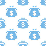 Dollar purse seamless pattern Stock Photo