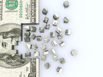 Dollar puzle background Royalty Free Stock Photos