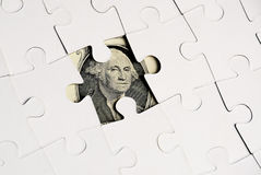 Dollar puzzel Stock Images