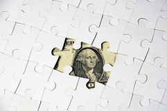 Dollar puzzel Stock Photo