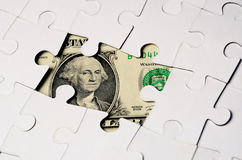 Dollar puzzel Royalty Free Stock Image