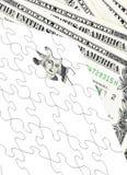 Dollar puzzle Royalty Free Stock Image