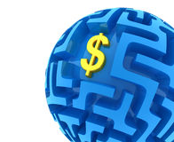 Dollar puzzle Stock Photography