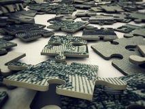 Dollar puzzle Stock Photo