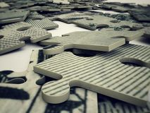 Dollar puzzle Royalty Free Stock Images