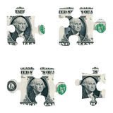 Dollar puzzle pieces Stock Image