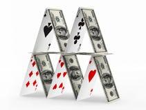 Dollar pyramid. Royalty Free Stock Image