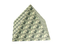 Dollar pyramid. The pyramid painted into United States dollars Stock Photos
