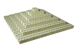 Dollar Pyramid. On white Royalty Free Stock Photo