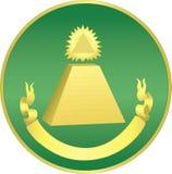 Dollar-Pyramide Stockfoto