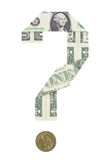 Dollar in Question Stock Photo