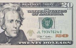 20 dollar räkning Royaltyfri Bild