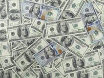 100 dollar räkningbakgrund - 1 framsida Arkivfoto