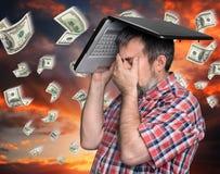 Dollar rain - finance concept. Stock Photo