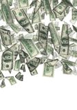 Dollar rain isolated 2 Royalty Free Stock Images