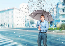 Dollar rain Stock Photography