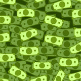 Dollar rain vector illustration pattern background. Money falling from above isolated on Stock Photo