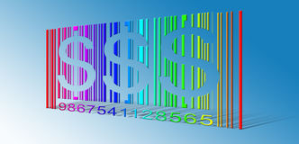 Dollar Rainbow Bar Code Stock Images