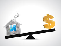 Dollar real estate balance industry illustration Stock Photography