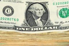 Dollar-Rechnungsstapelmakro Lizenzfreie Stockfotografie