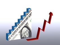 Dollar recovery. Graphic illustrating the successful recovery of US Dollar Royalty Free Stock Photography