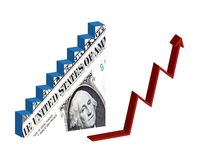 Dollar recovery Royalty Free Stock Photography