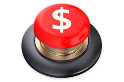 Dollar Red button Royalty Free Stock Photography