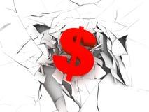 dollar red sign Διανυσματική απεικόνιση