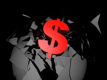 dollar red sign Ελεύθερη απεικόνιση δικαιώματος
