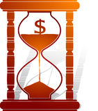 Dollar reduced sand clock Royalty Free Stock Images